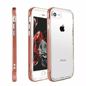 Maroon Lined Shockproof TPU iPhone Case